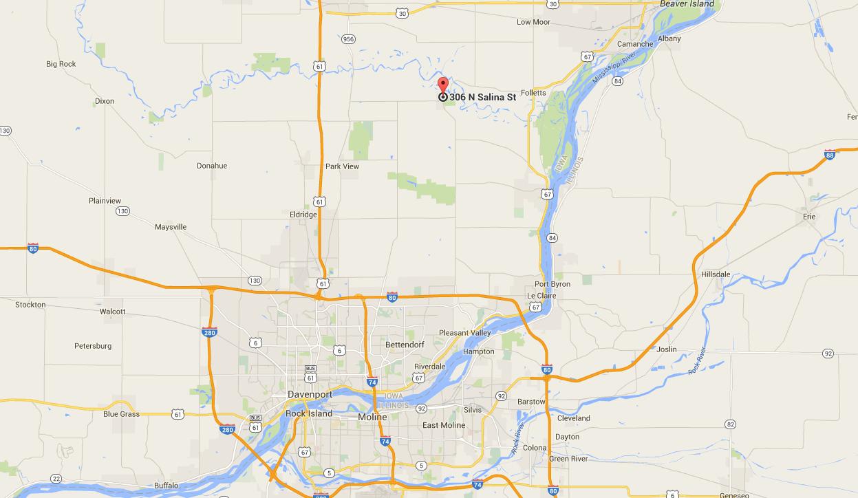 MAP  Steves Auto Sales McCausland IA