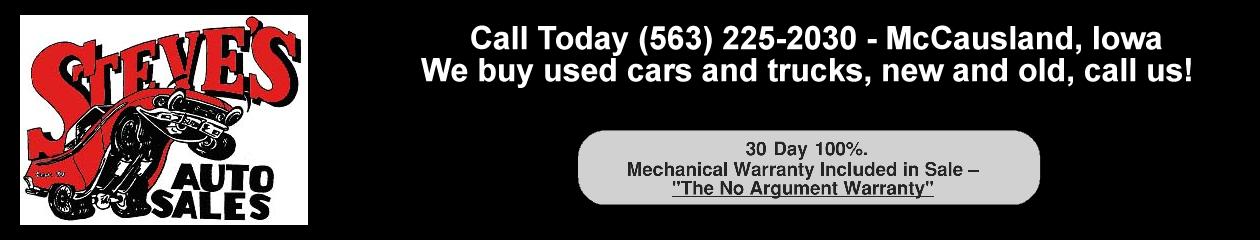Steve's Auto Sales McCausland, IA